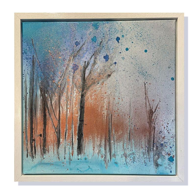 """'Illuminated Woodland' 16""""x16"""" Framed £180"""