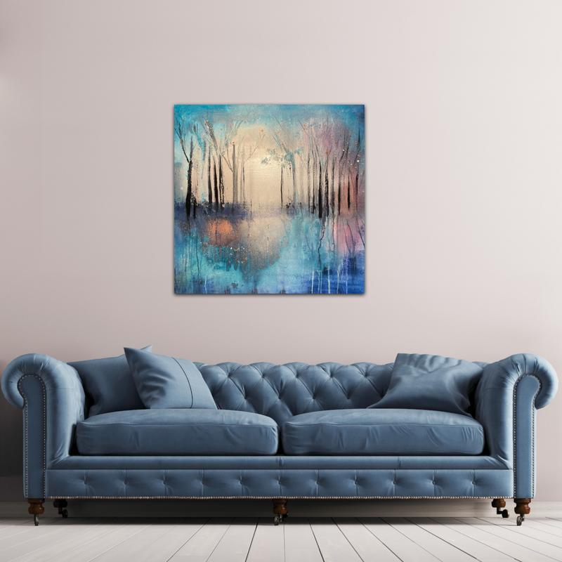 vibrant woodland sofa