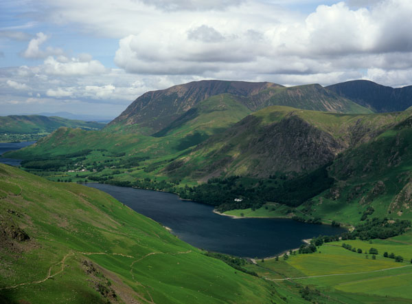 Buttermere and Grasmoor from Scarth Gap Pass