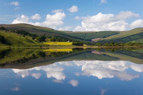 Reflections in Semer Water, Wensleydale