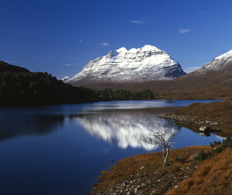 Liathach reflected in Loch Clair, Torridon