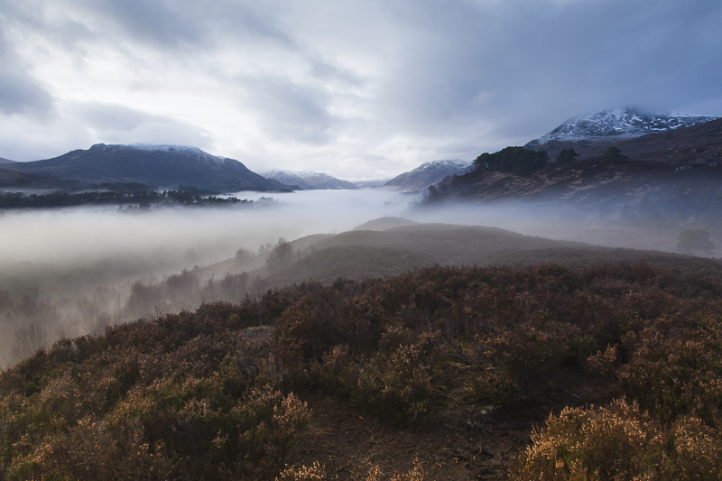 Mist covered Loch Affric