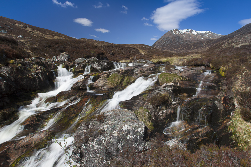 Waterfalls along Gleann nam Fiadh, Glen Affric