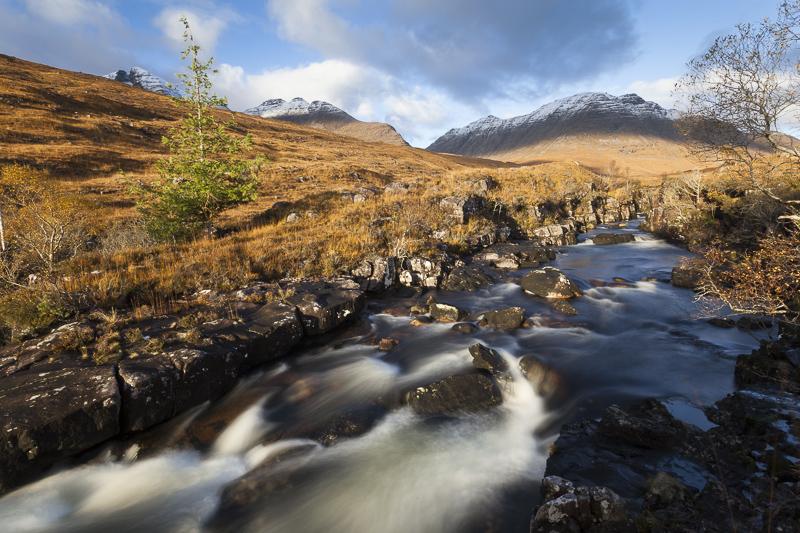 Waterfalls on Abhainn Coire Mhic Nobuil, Torridon