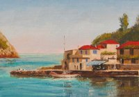 The Blue Awning, Assos, Kefalonia -SOLD