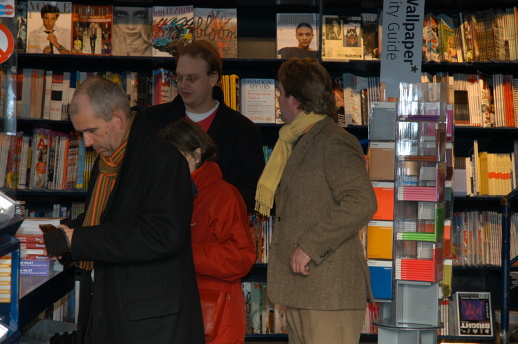People in a bookshop