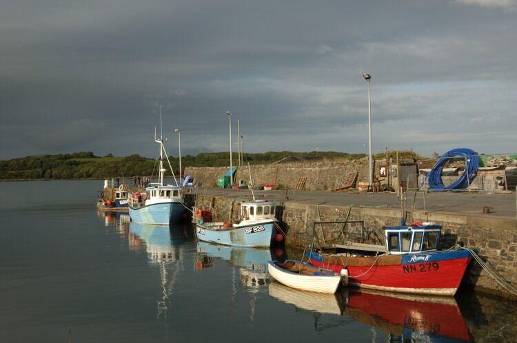 Boats moored at Garlieston