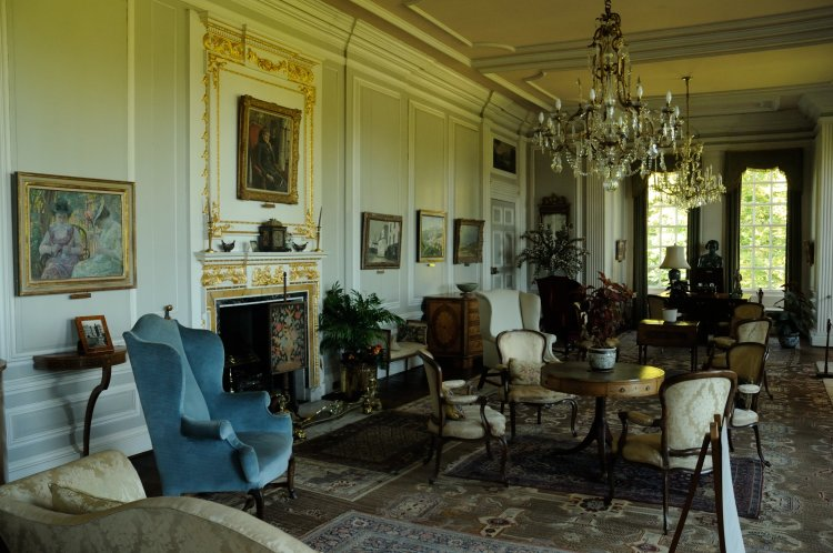 The White Drawing Room in Burton Agnes Hall