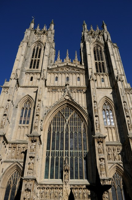 The west front of Beverley Minster