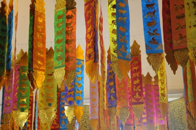 Banners in Viharn Luang