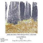 Slate Boundary Wall, Abergynolwyn