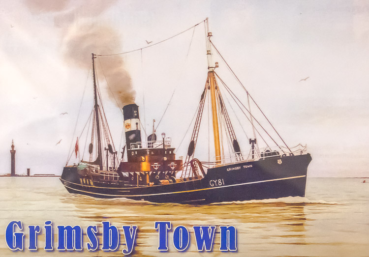 'Grimsby Town' stranded and wrecked off Alvindruhamrur