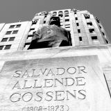 Memorial to President Allende outside Ministry of Justice