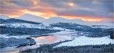 Winter Sunset, Glen Shiel