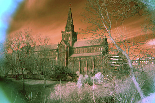 Glasgow Cathedral Infra Red
