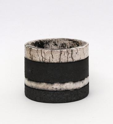 night and day<br>raku fired stoneware, height 67mm