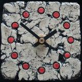 ceramic clock, red spots