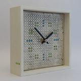ceramic clock, wooden frame