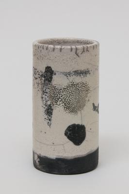 short pot<br>raku fired stoneware