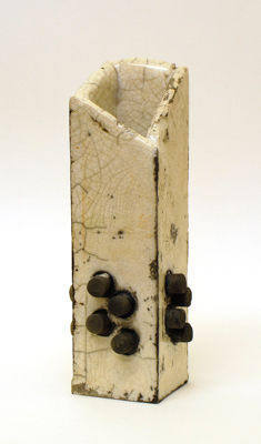 four by four by four by four<br>raku fired stoneware, height 186mm