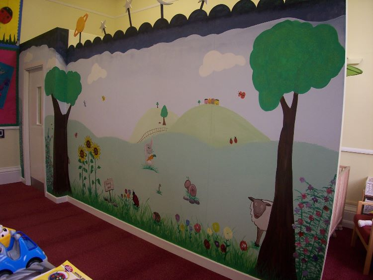 Akeley Wood mural