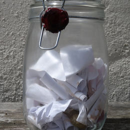 Stone, Air, and the Rest in its final state, as a sealed jar of memories written on paper.