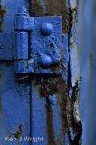 door hinge in blue
