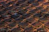 frost melt on roof tiles