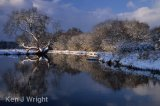 snow on the River Wey
