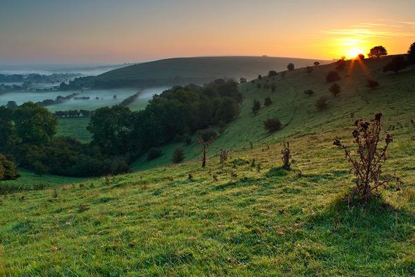 Dawn over Bowerchalke