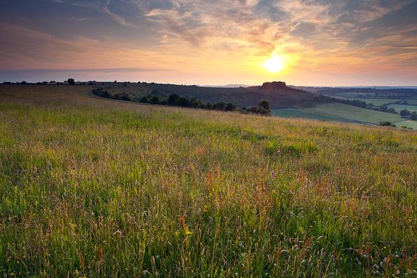 Sundown over Sutton Down