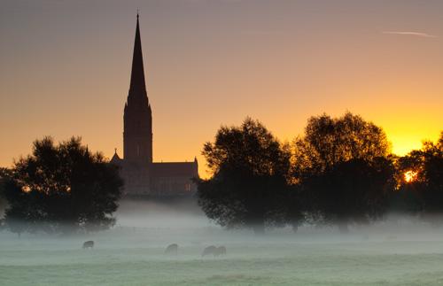 Sunrise at Salisbury Cathedral