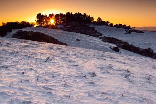 Winter Sunset Penbury Knoll