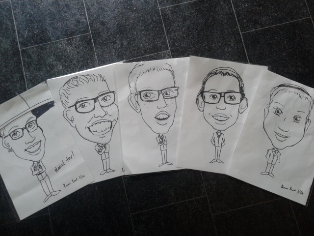 Barmitzvah on-the-spot caricatures