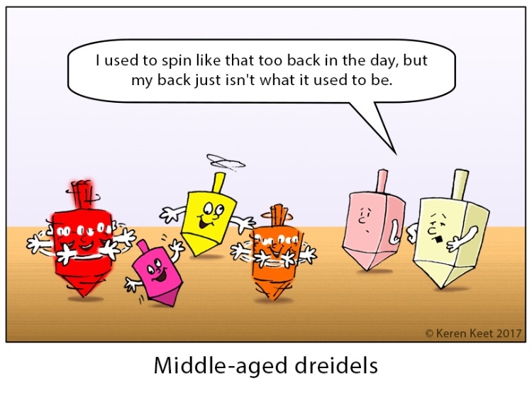 Middle Aged Dreidels