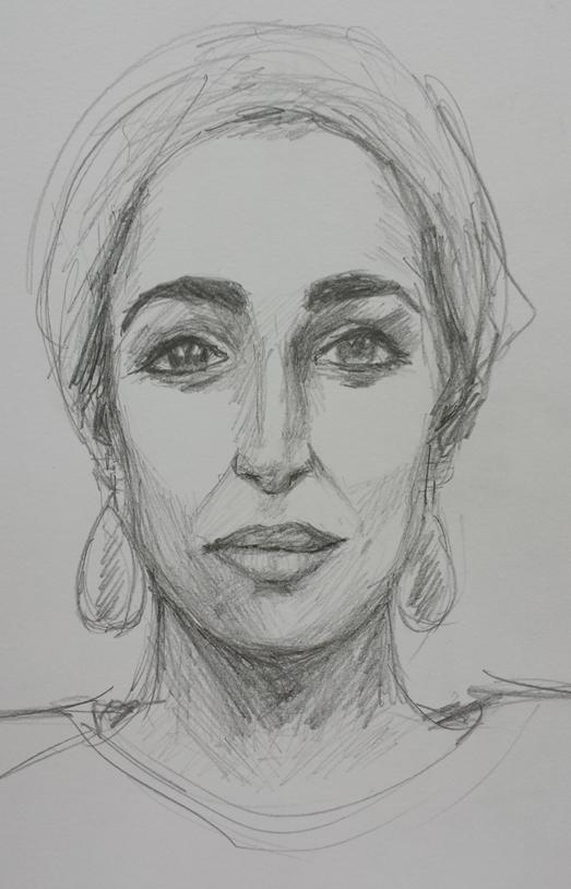 Natalie in pencil