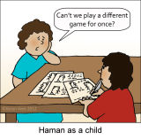 Haman as a Child