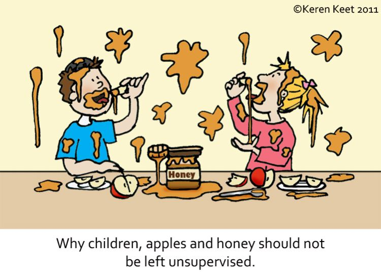 Children, Apples, Honey