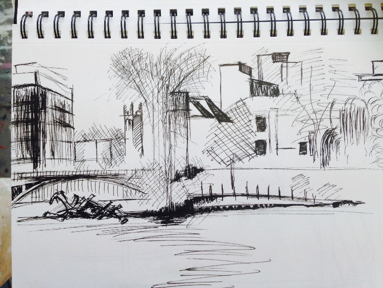 River gardens sketching