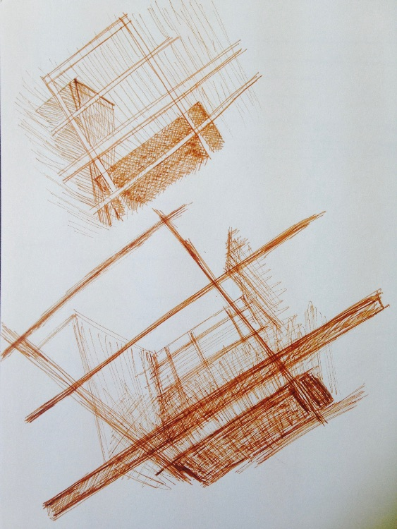 sepia sketching