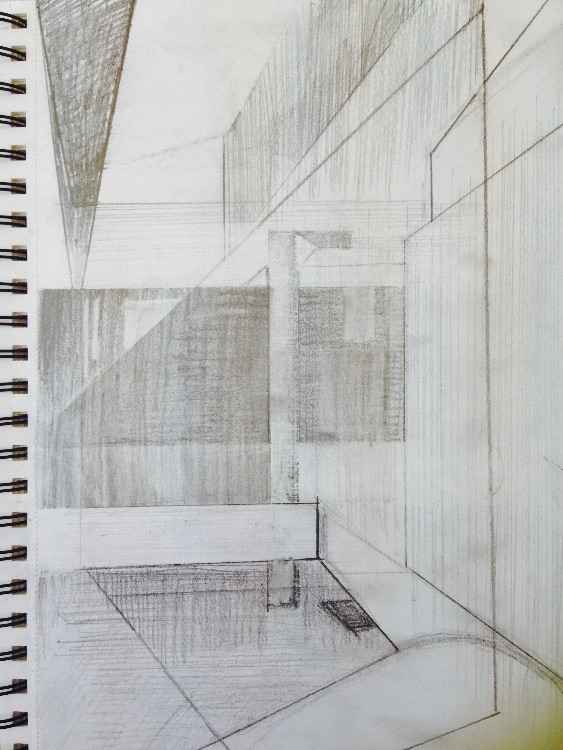 sketching - in public space
