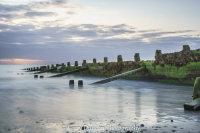 Sunrise Over Hornsea Groynes