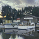 Evening Boatyard