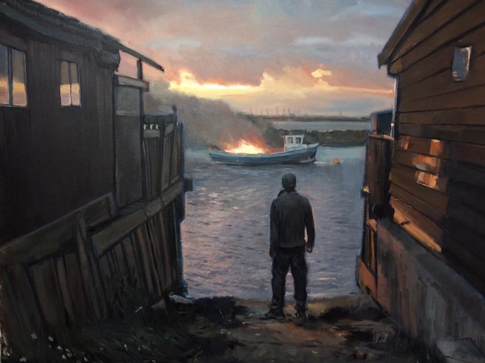 Burning Boat