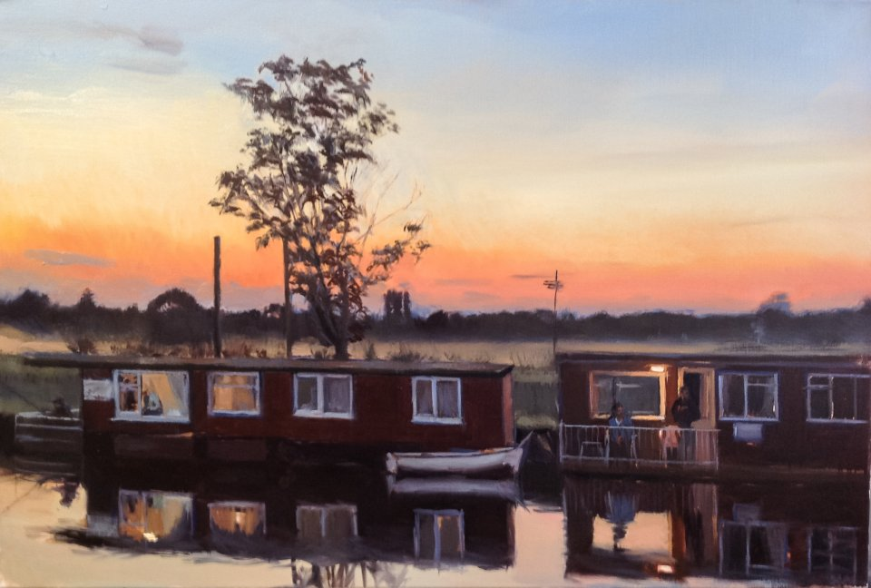 Houseboats Evening, Beccles
