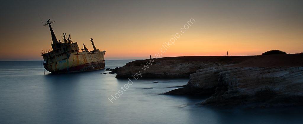 Shipwreck Sunset  Oniro cyprus