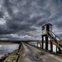 Stormy Sky  Over  Lindisfarne  Causeway