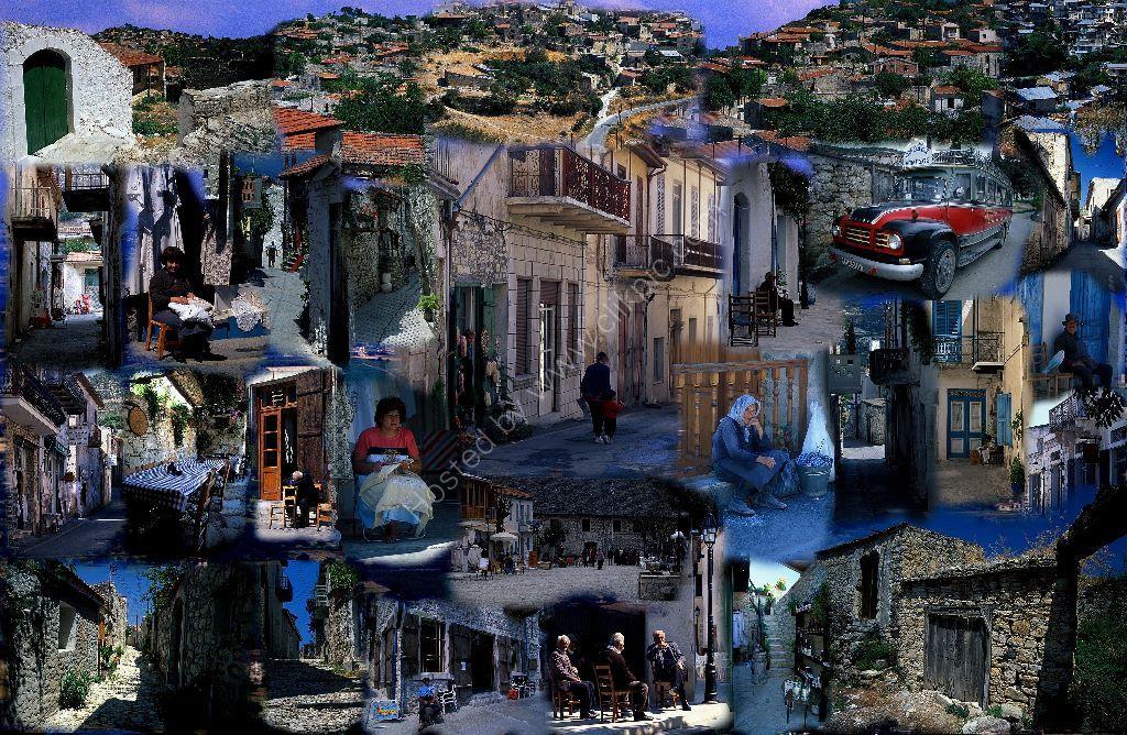 cyprus village collage
