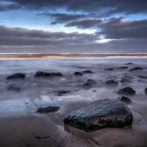 early evening at  boulmer  beach