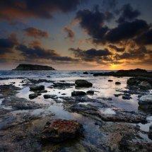 evening shorescape cyprus